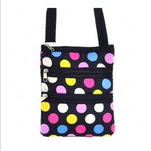 Handbags - Multicolored Polka Dot Messenger Swingpack Bag